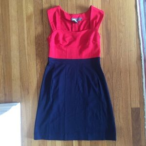 Anthropologie Girls from Savoy Blue Red Dress